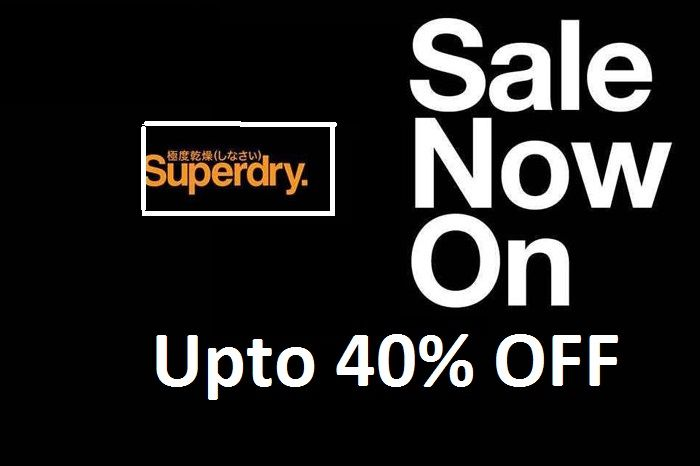 The Real Superdry Sale is now on. Visit your nearest store to grab your favourite Superdry merchandise at great deals, Upto 40% OFF. Hurry!
