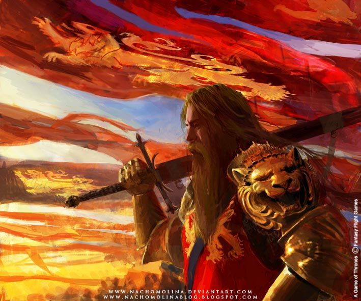 Devan Lannister (cousin of Tywin, I think..), anyway, all the credits to http://nachomolina.deviantart.com/