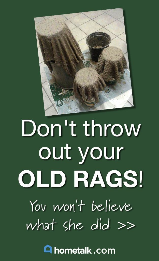 Don't throw out your old rags! Wait till you see what this Hometalker did with hers.