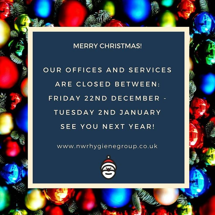 Everyone at #nwrhygiene would like to wish all of our customers suppliers and friends a very merry #christmas2017 and a happy #newyear  See you in 2018!  #nwrhygiene #washroom #facilities #management #commercial #cleaning #technology #environmental #picoftheday #photo #instapic #instadaily #christmas #friday #fridayfeeling #opening #closing #times #2018