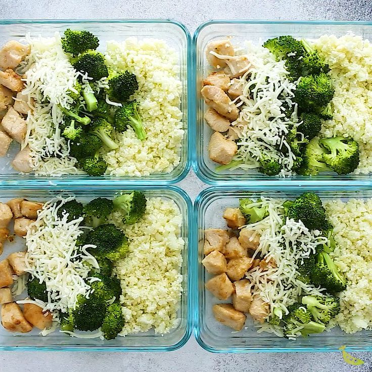 Low Carb Cheesy Chicken und Rice Meal Prep – Hea…
