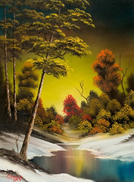 bob ross paintings | bob ross paintings > bob ross golden sunset - aaawh! so nice - web source = MReno