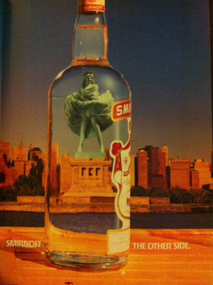 Vogue May 1993 edition smirnoff vodka advert