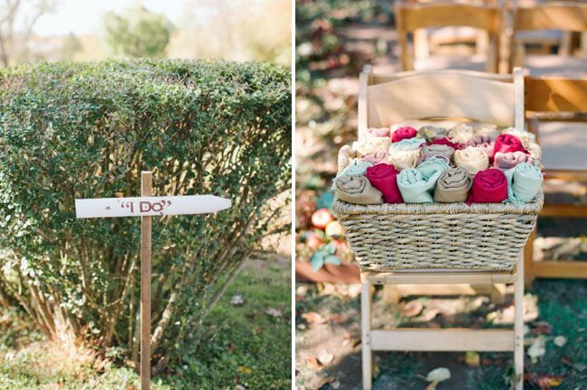 Fall Outdoor Wedding With Blankets For The Guests We