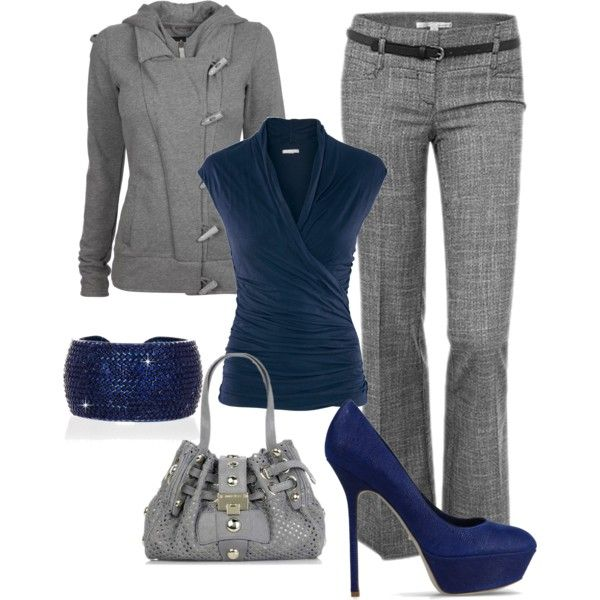 Feel'n Blue by dori-tyson on Polyvore featuring polyvore, мода, style, H