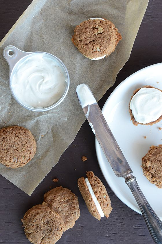 Peanut Butter Banana Bread Whoopie Pies (grain-free, vegan, gluten-free) -- An Edible Mosaic