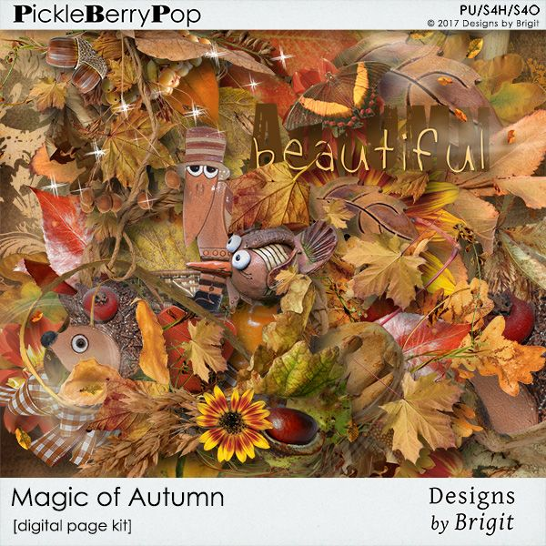 Magic of Autumn page kit
