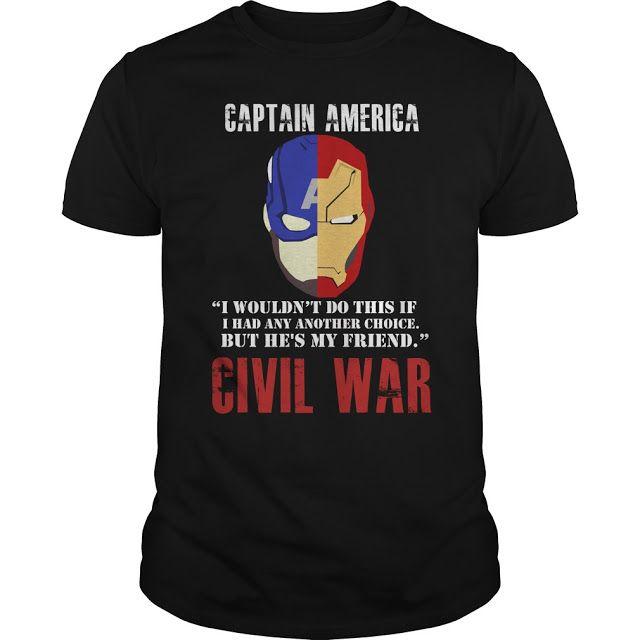 Totally Tee Shack: Captain America: Civil War T Shirt