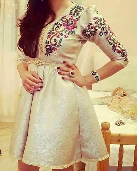 Mini caftan robe