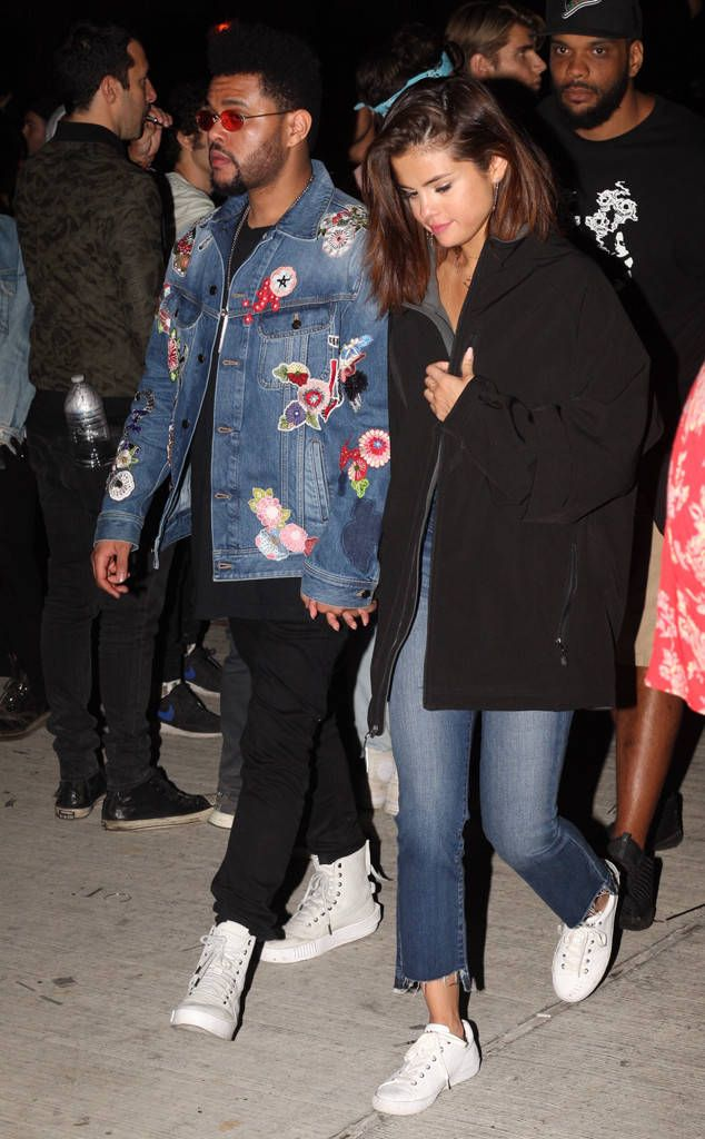 Selena Gomez and The Weeknd from Coachella 2017: Star Sightings  The two appear at the Neon Carnival party.