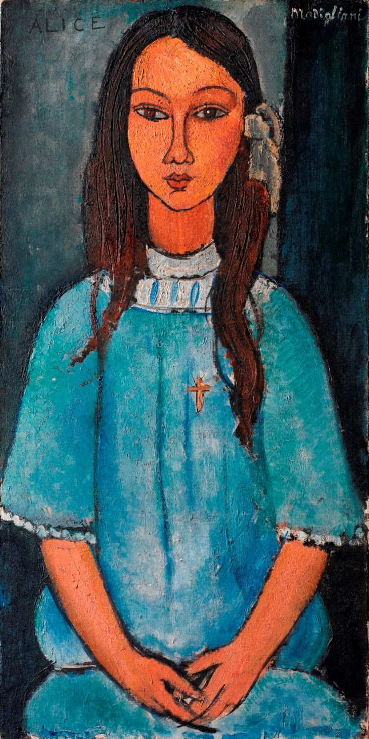 Am  Gigi Pinson   Gigi Pinson  сохранил(а) Пин на доску ART-Modigliani Amedeo 1884-1920 Italie Jeanne Hebuterne (with a scarf) - Amedeo Modigliani #modigliani #paintings #art 5 дн. edeo Modigliani - Alice