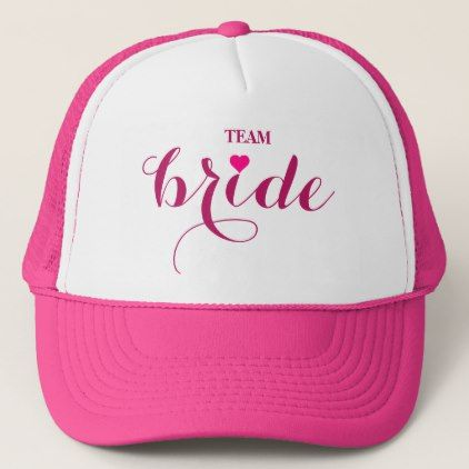 Personalized Customize Team Bride Trucker Hat - wedding shower gifts party ideas diy cyo personalize