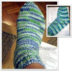 Tentando Tricotar: Minha primeira meia !!!