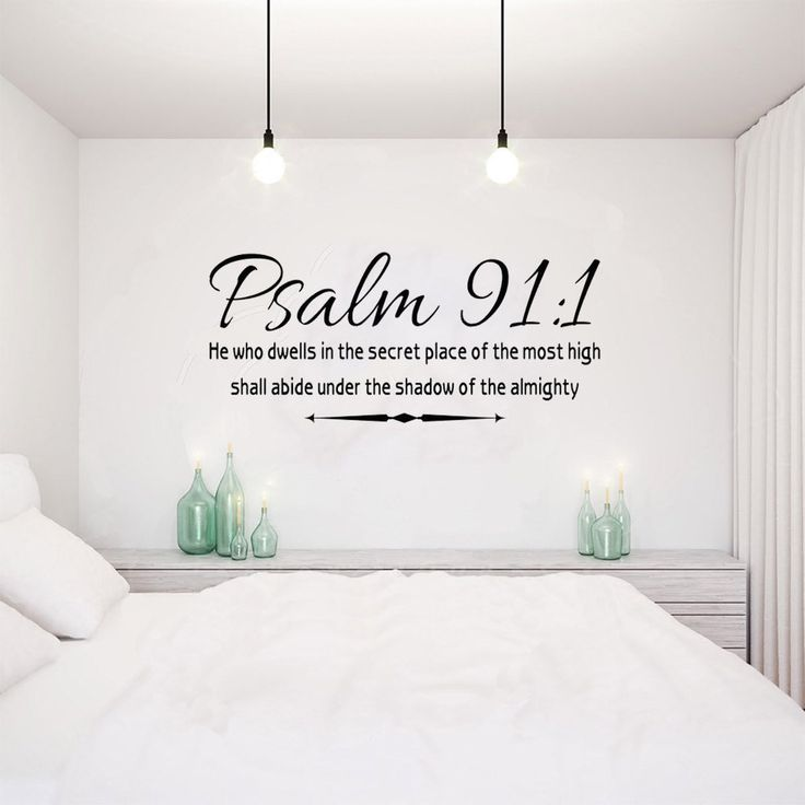 Abide Under the Shadow of the Almighty Psalm 91:1 Bible wall decal