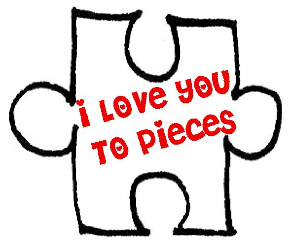 I Love You To Pieces Template 46556 Loadtve