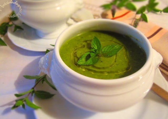 Briciole di Sapori           : Crema con verdure di stagione e foglie di menta