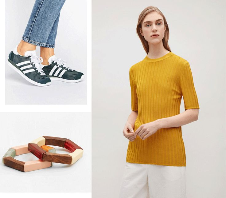 Top sales pices in store now and how to shop smart during sales http://gabriellalundgren.com/top-sales-pices-in-store-now-and-how-to-shop-smart-during-sales Sharing my best tips in how to shop smart during sales! Here green Adidas trainers from Asos, wood bracelets from Mango and mustard top from COS.