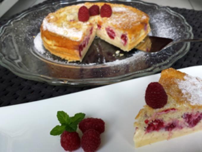 Gâteau magique vanille framboise - recette thermomix, Recette Ptitchef