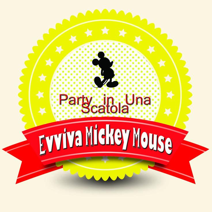 "Party scrigno ""Evviva Mickey Mouse"""