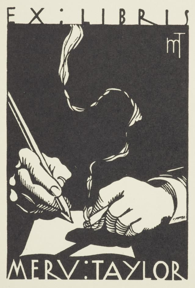 Ex libris Merv. Taylor, Collections Online - Museum of New Zealand Te Papa Tongarewa
