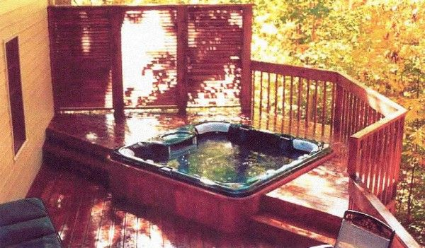48 Best Hot Tub Images On Pinterest Privacy Fences