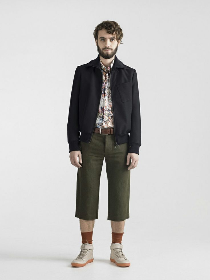 #FRENN SS14 Aquatic - Nils #recycled #polyester twill #bomber #jacket Aaro #digiprinted #shirt and Toni #linen #short #trousers  www.frenncompany.com/shop