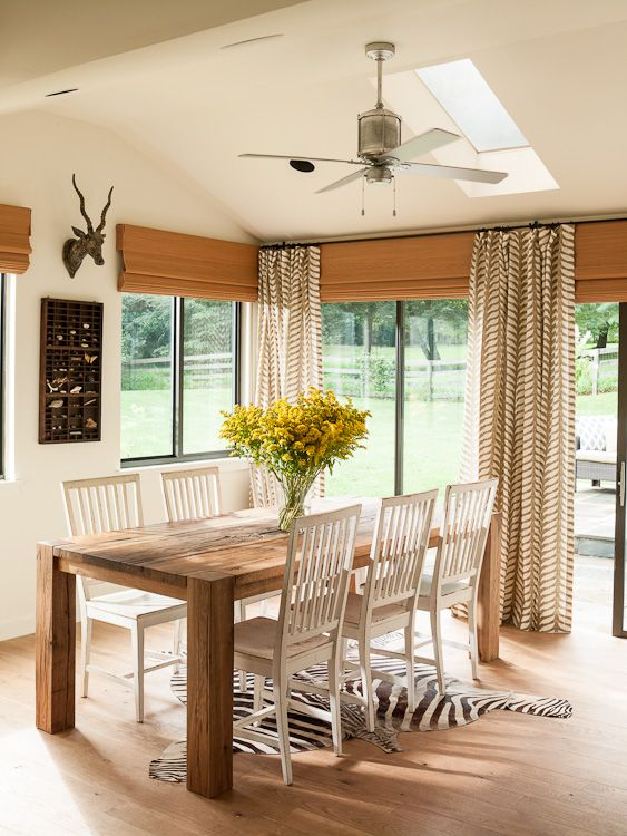 Pure style home dining room
