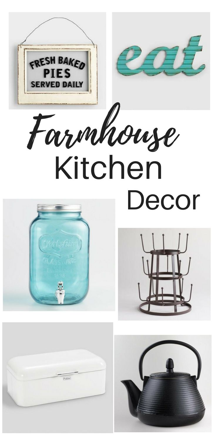 I love anything farmhouse and these kitchen finds are some of my favorites. I love the beverage dispenser.  These finds can be found at World Market. #affiliate #farmhouse #finds #kitchen #decor #ideas