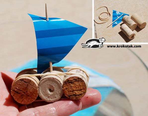 How to turn 3 corks into a boat. So simple.