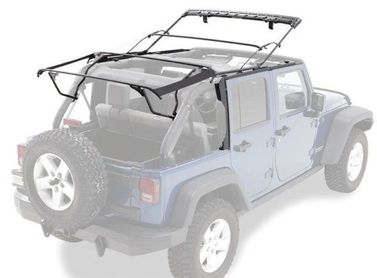 $600 Bestop® 5500101 Factory Style Bow Kit for 10-17 Jeep® Wrangler Unlimited JK with Factory Soft Top & 07-15 Wrangler Unlimited with Supertop NX | Quadratec