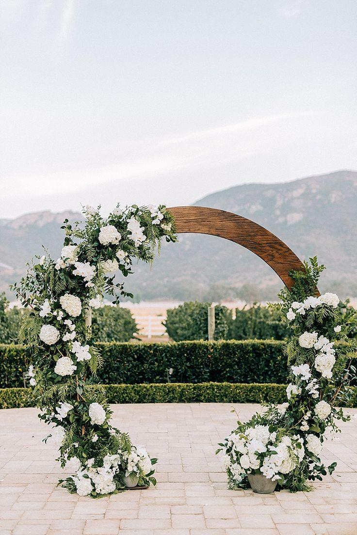 Classic Vineyard Elegance At Epona Estate Wedding Arch Rustic Outside Wedding Wedding Ceremony