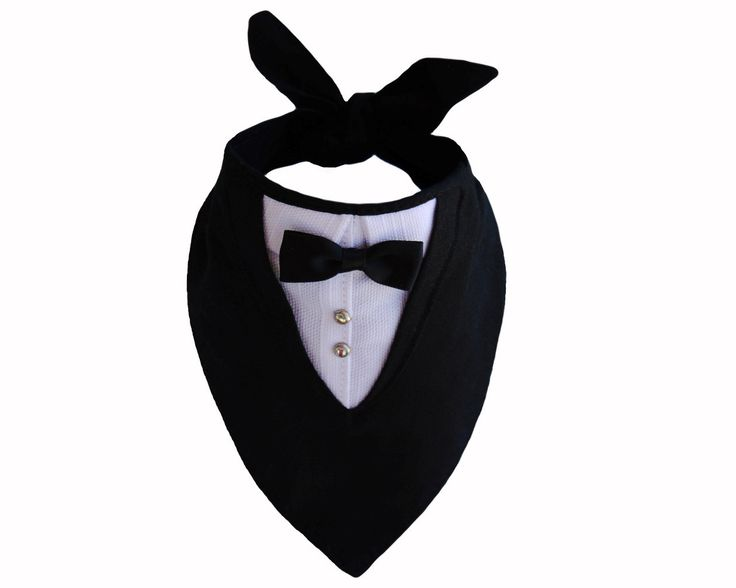 Medium Sized Tuxedo Bandana Dog Tux Pet Wedding. $25.00, via Etsy.