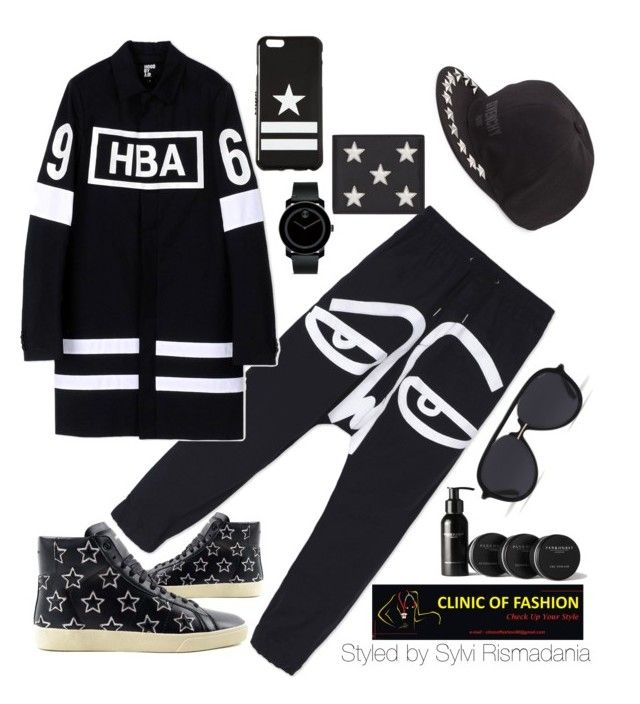 """Untitled #19"" by clinicoffashion on Polyvore featuring Haculla, Hood by Air, Yves Saint Laurent, Movado, Givenchy, Bally, Pankhurst, men's fashion and menswear"