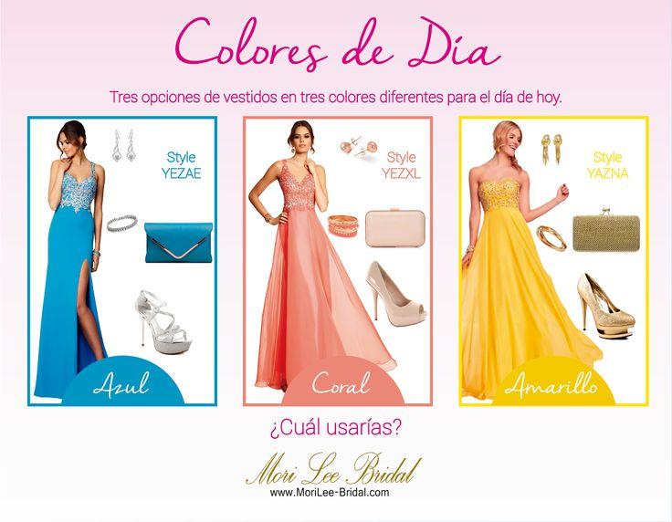 Colores del Día. #Dia   #boda   #tendenciasparaboda   #tendencias2014   #coloresdehoy   #damasdehonor   #vestidosdefiesta   #morileebridals   #morileeweddingdresses   #morileebogota
