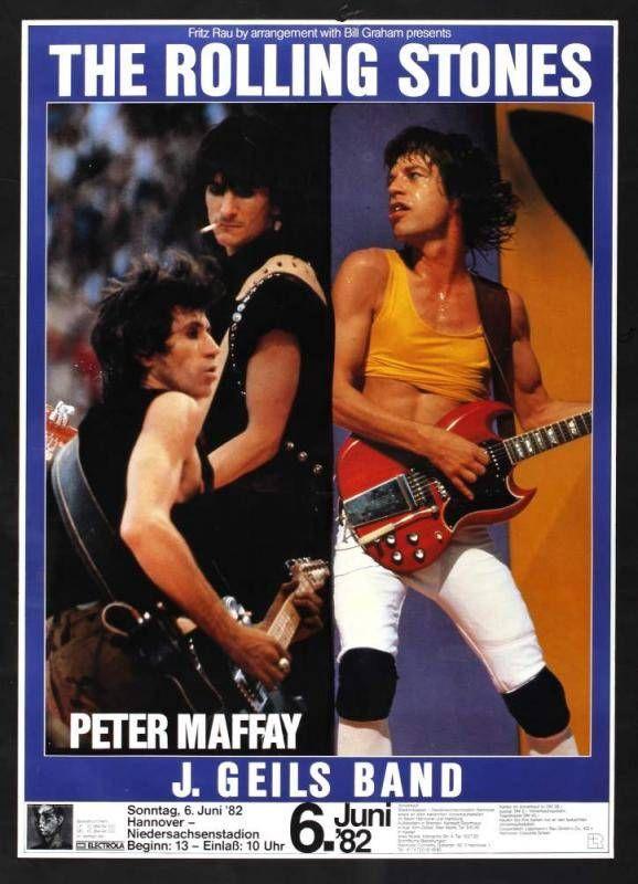 9e1da5e4 The Rolling Stones poster - Tour 1982 | The Rolling Stones | Rolling stones  album covers, Rolling stones tour, Rolling Stones