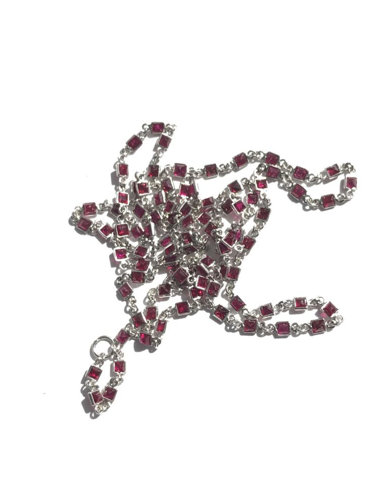 A personal favorite from my Etsy shop https://www.etsy.com/listing/509959499/vintage-necklace-ruby-art-deco-platinum