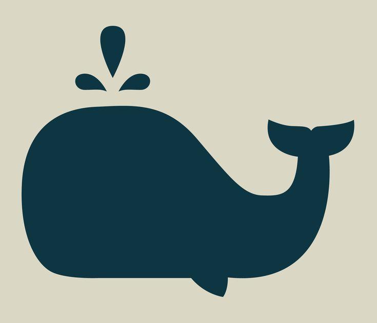 Baleine. Pochoir de baleine. Pochoir en vinyle adhésif. (ref 227-3) : Décoration d'intérieur par larabesque