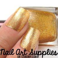 Molten Gold - Orange Gold Metallic Glitter Nail Polish 16ml from nailartsupplies