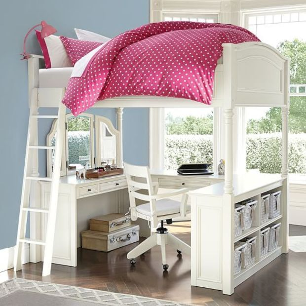 Best Chelsea Vanity Loft Bed Loft Bed Loft Beds For Teens 400 x 300