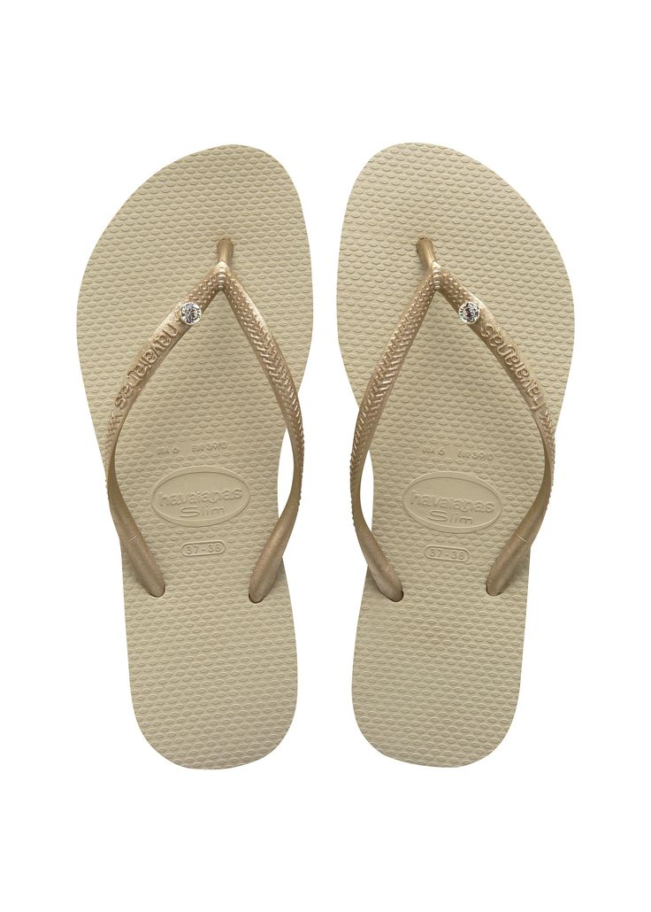 Havaianas Slim Crystal Glamour Sw Sandal Sand Grey/Light Gold  Price From: 45,48$CA