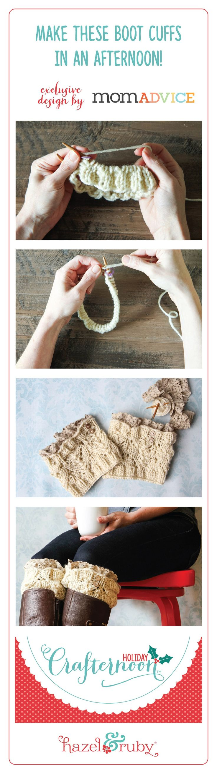 609 best knit picky images on pinterest hand crafts blanket learn to knit stunning boot cuffs simple to create make as a gift or bankloansurffo Images