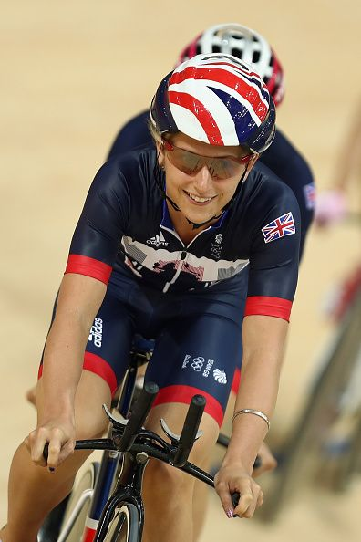 #RIO2016 Laura Trott of Great Britain and Team GB in action during training at the Rio Olympic Velodrome on August 4 2016 in Rio de Janeiro Brazil
