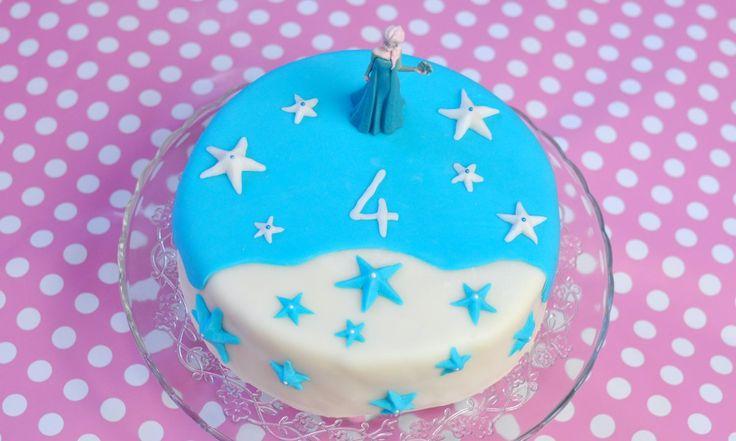 Anleitung für eine Fondant-Elsa-Torte