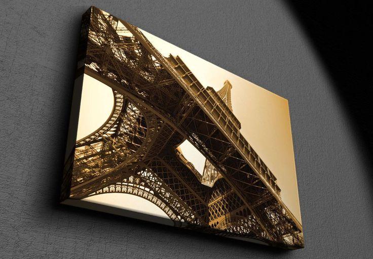 Eiffel Tower sepia toned - Canvas