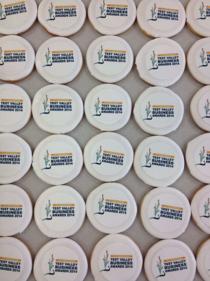 Just some of the biscuits we made for the Test Valley Business Awards
