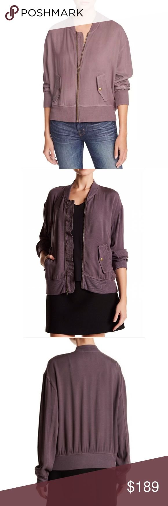 Anthropologie Purple Mauve Bomber Jacket Chic and sporty bomber jacket in a trendy hue. Might take down soon. Thinking of keeping this for myself. 🤔 First photo is in a really bright setting, and that's what the color looks like under that condition. In dimmer light, as expected of any garment, it is darker. Refer to subsequent photos. Great material and super comfy. As always, I am open to offers! Three Dots Jackets & Coats Utility Jackets