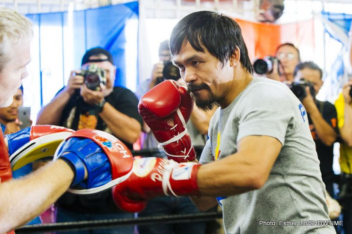 Manny Pacquiao vs. Mike Alvarado close to being done for April 14 #LucasMatthysse #MannyPacquiao #allthebelts #boxing