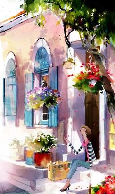 : Watercolor Art, Watercolor Paintings, Kim Jihyuck, Happy Colors, Design Art, Hanuol Kim, Happy Pictures, Kim Ji Hyuck, Water Colors