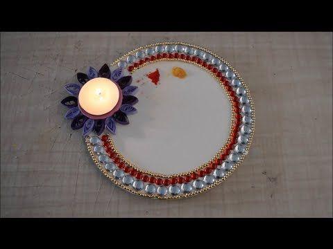 Decorative Puja Thali - YouTube