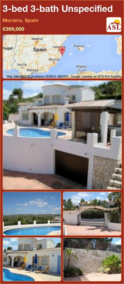 3-bed 3-bath Unspecified in Moraira, Spain ►€369,000 #PropertyForSaleInSpain